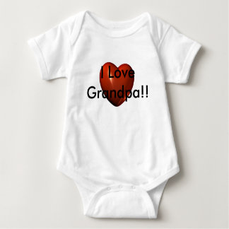 I Love Grandpa Heart Logo Infant Creeper