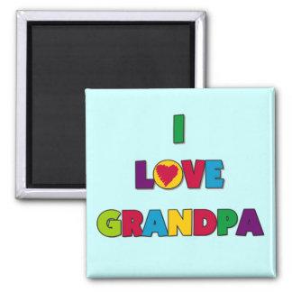 I Love Grandpa Tshirts and Gifts Magnets