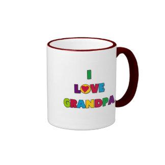I Love Grandpa Tshirts and Gifts Ringer Mug