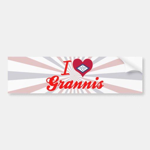 I Love Grannis, Arkansas Bumper Sticker