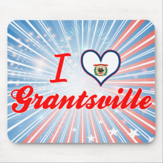 I Love Grantsville, West Virginia Mouse Pads