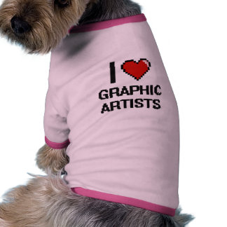I love Graphic Artists Dog T-shirt