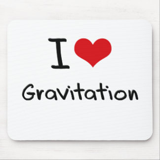 I Love Gravitation Mouse Pad