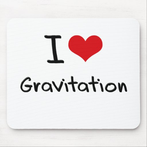I Love Gravitation Mouse Pad