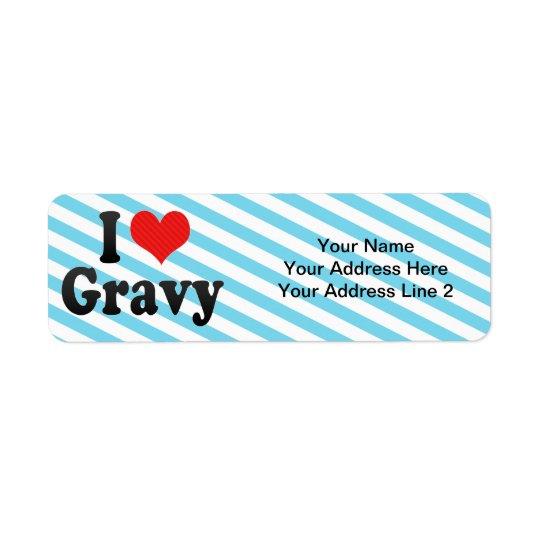 I Love Gravy Return Address Label