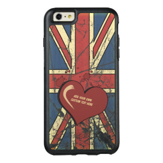 I Love Great Britain Distressed Flag OtterBox iPhone 6/6s Plus Case