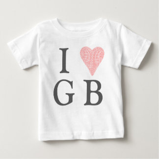 I Love Great Britian Baby Tshirt