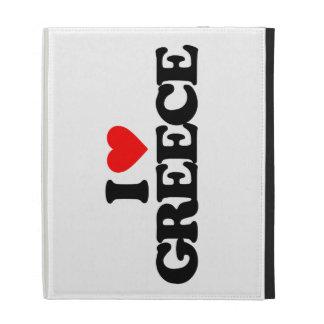 I LOVE GREECE iPad FOLIO CASES
