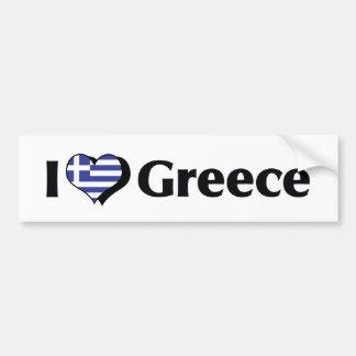 I Love Greece Flag Bumper Sticker