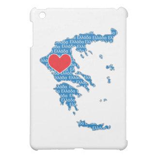 I Love Greece Map iPad Mini Cover