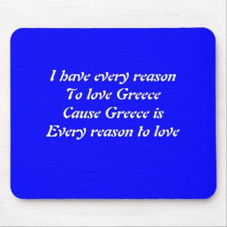 I love Greece Mouse Pad