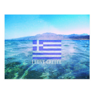 I Love Greece Postcard