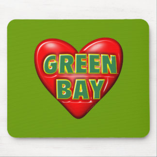 I Love Green Bay Mouse Pads