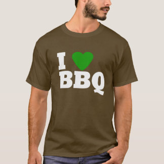 I Love Green BBQ T-Shirt