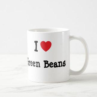 I love Green Beans heart T-Shirt Mug