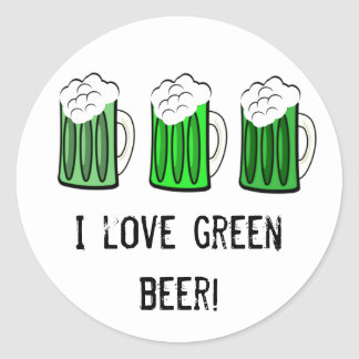 I love green beer stickers