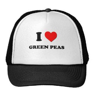 I Love Green Peas ( Food ) Mesh Hat