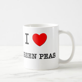 I Love GREEN PEAS ( food ) Mugs