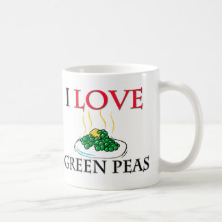 I Love Green Peas Coffee Mug