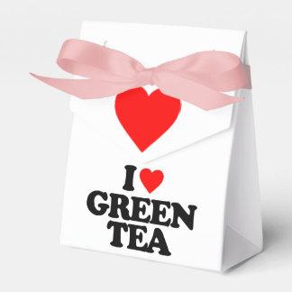 I LOVE GREEN TEA PARTY FAVOR BOX