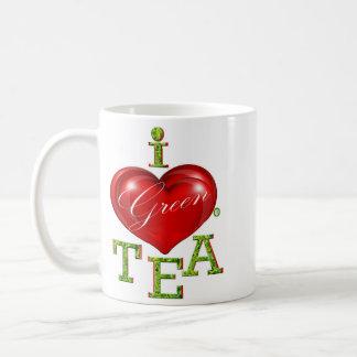 I Love Green Tea Mug or Cup