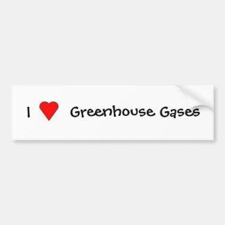 I Love Greenhouse Gases Bumper Sticker