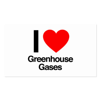 i love greenhouse gases business card template