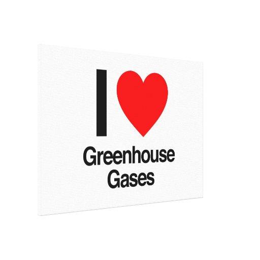 i love greenhouse gases canvas prints