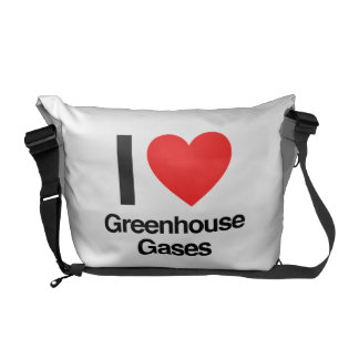 i love greenhouse gases messenger bags