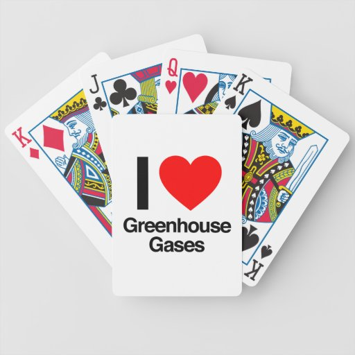 i love greenhouse gases bicycle card deck
