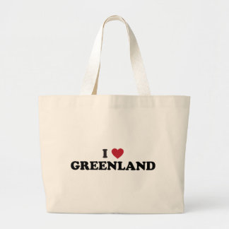 I Love Greenland Large Tote Bag