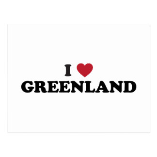 I Love Greenland Postcard