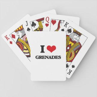 I love Grenades Poker Deck