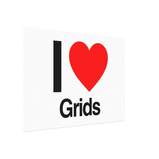 i love grids gallery wrap canvas