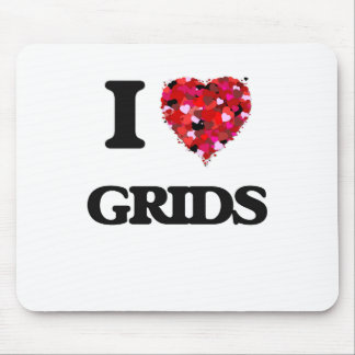 I Love Grids Mouse Pad