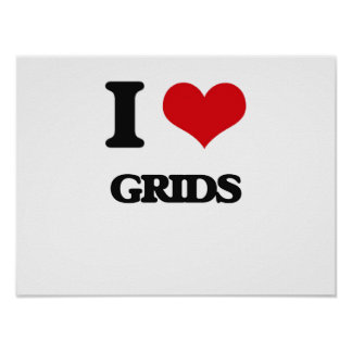 I love Grids Print