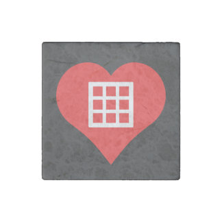 I Love grids Stone Magnet