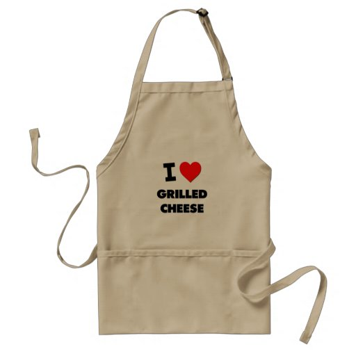 I Love Grilled Cheese ( Food ) Apron