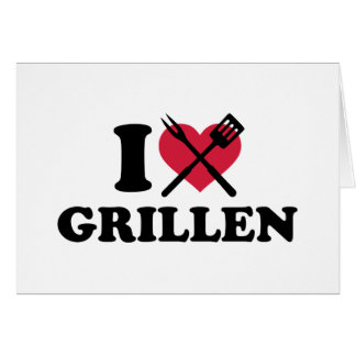 I love Grillen Greeting Cards
