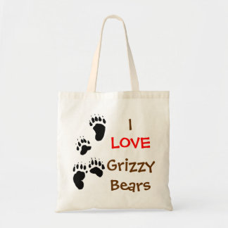 i love grizzly bears tote bag