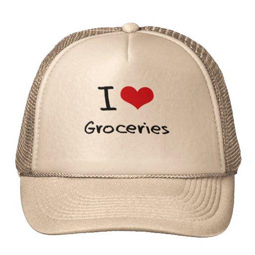 I Love Groceries Hats