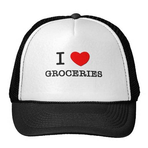 I Love Groceries Mesh Hats