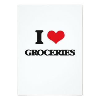 I love Groceries 5x7 Paper Invitation Card
