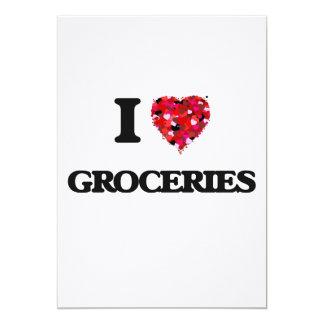 I Love Groceries 13 Cm X 18 Cm Invitation Card