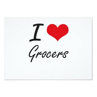 I love Grocers 13 Cm X 18 Cm Invitation Card