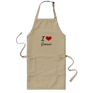 I love Grocers Long Apron