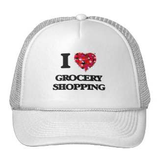 I Love Grocery Shopping Cap