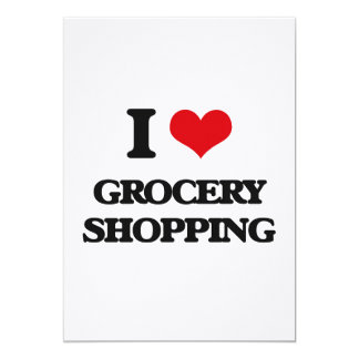 "I love Grocery Shopping 5"" X 7"" Invitation Card"