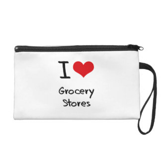 I Love Grocery Stores Wristlet Clutches