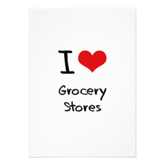 I Love Grocery Stores Invite